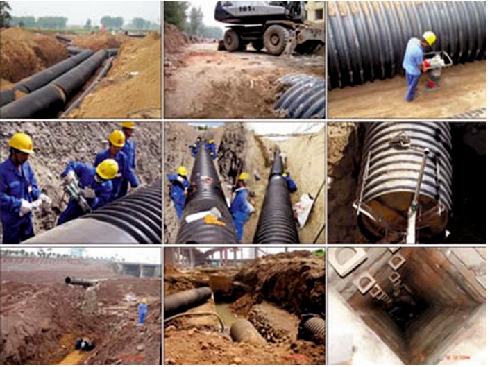 Công trình dự án thi công đường ống thoát nước thải HDPE TÂN LONG