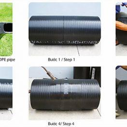 Hướng Dẫn Nối Ống Nhựa HDPE 2 Vách Bằng Đai Nhựa HDPE